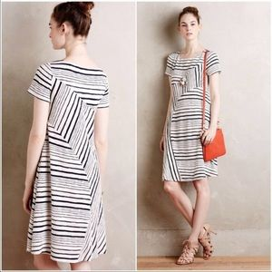 Maeve from Anthropologie Black & White Tunic Dress